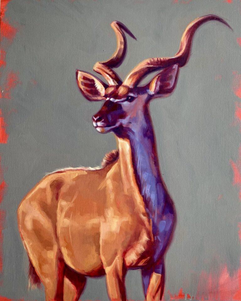 kudu oil painting,