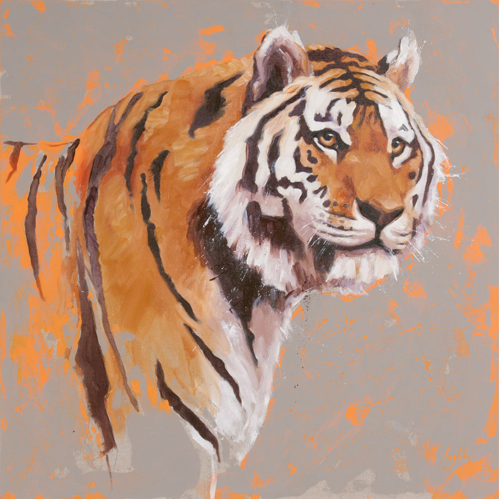 art print wildlife tiger contemporary