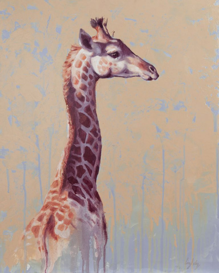 art print wildlife equine giraffe contemporary art