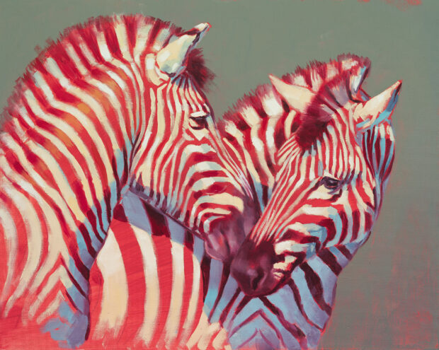 zebra painting, wildlife artist of the year, david shepherd,