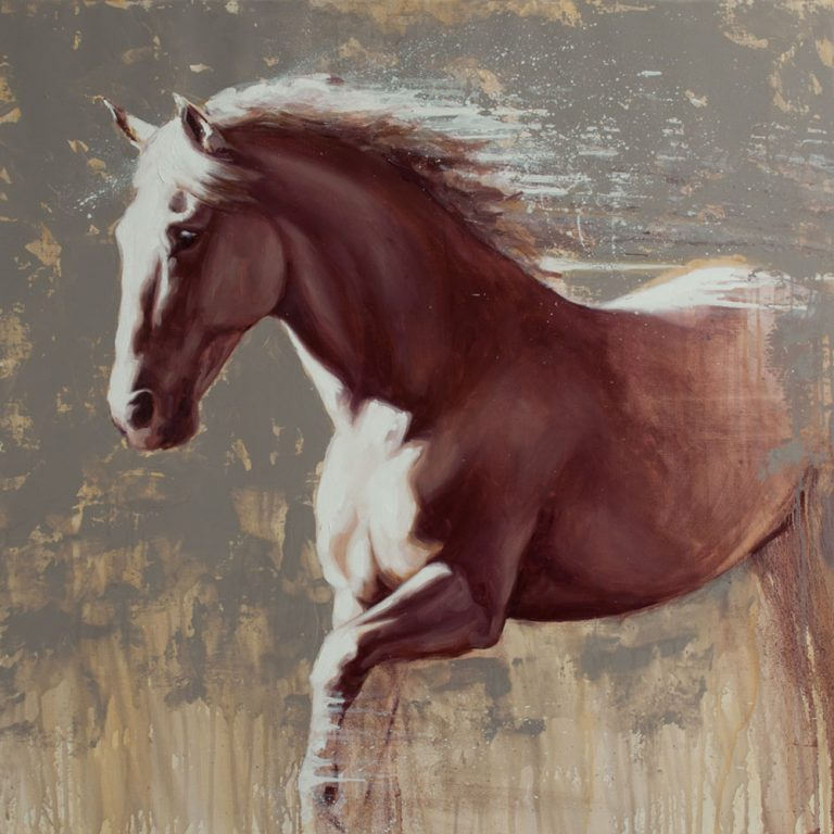 art print wildlife equine dog horse