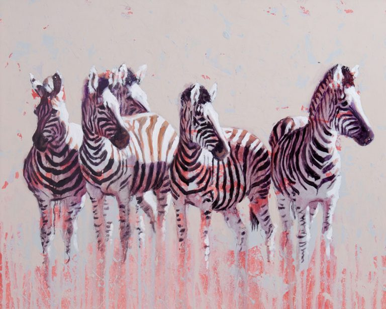 art print wildlife equine zebra contemporary painting