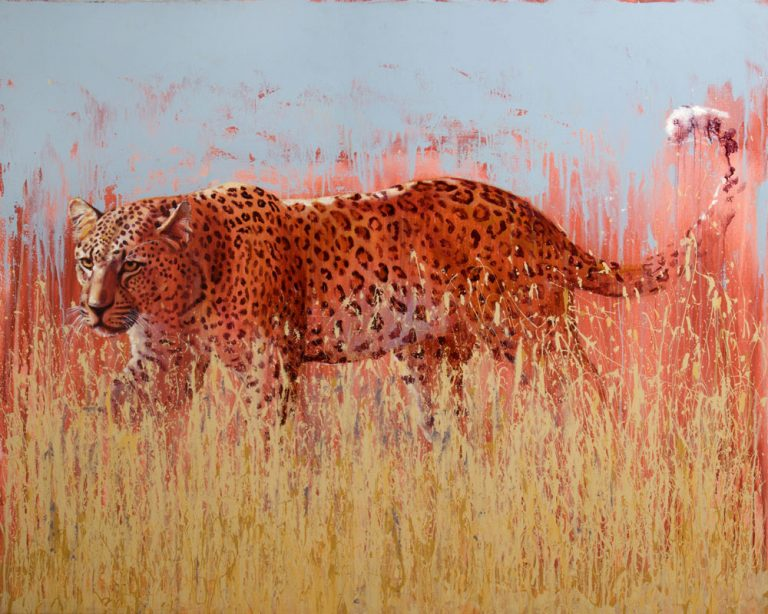 art print wildlife leopard contemporary painting