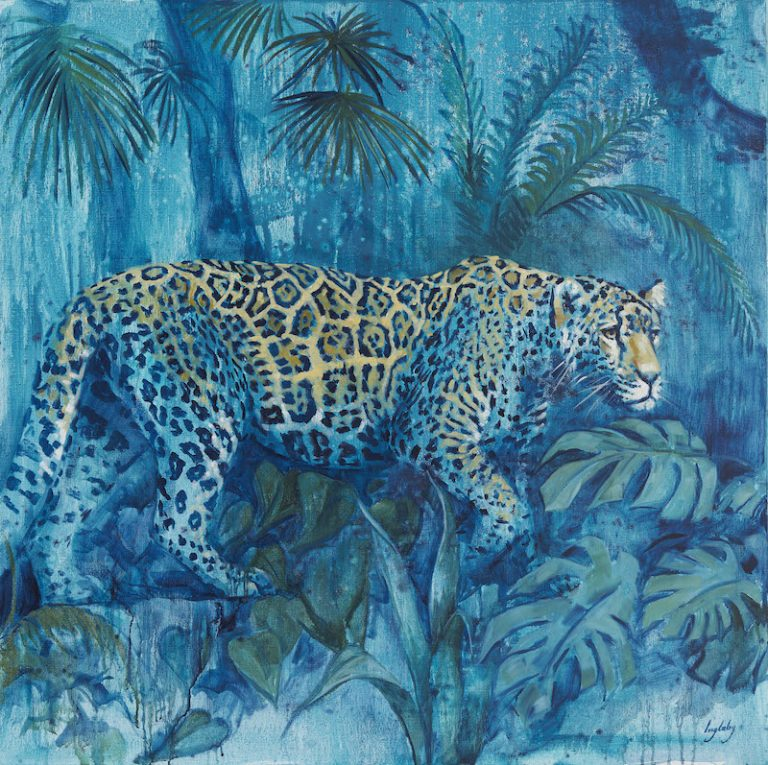 jaguar painting jungle print