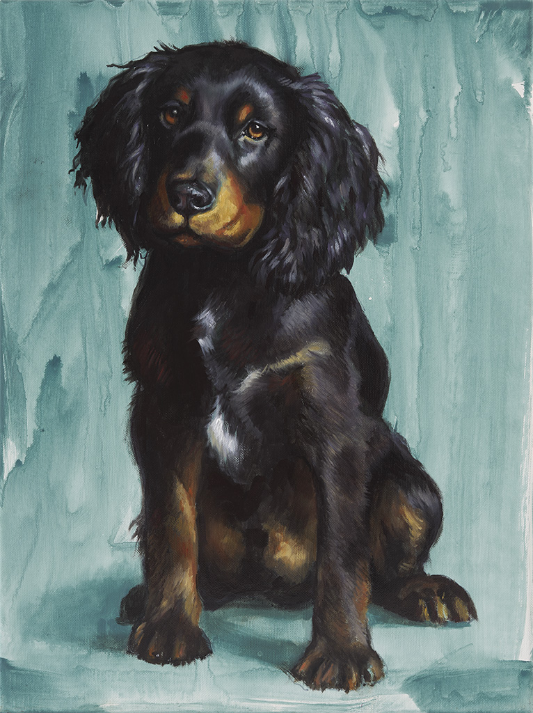 cocker spaniel oil painting portrait