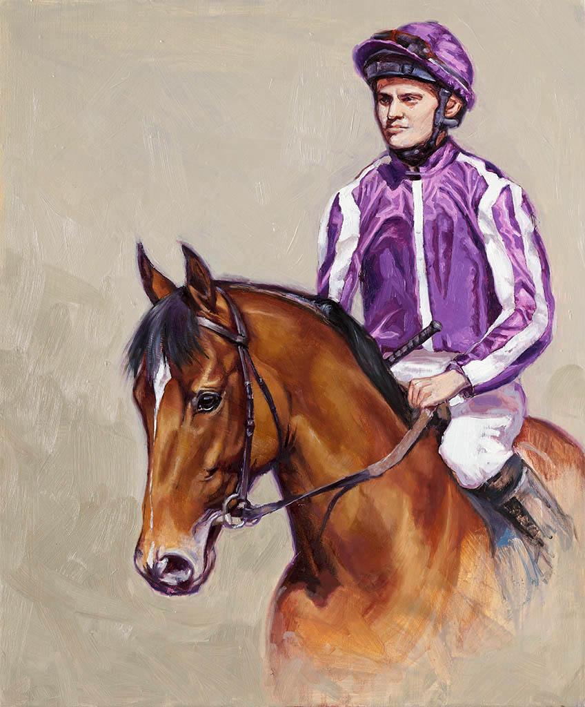 saxon warrior, british racing, racing art, horse portrait