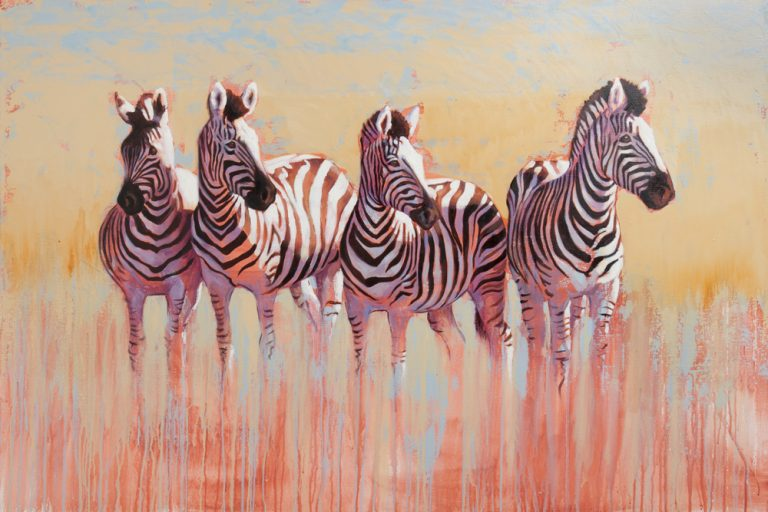 zebra, wildlife art,